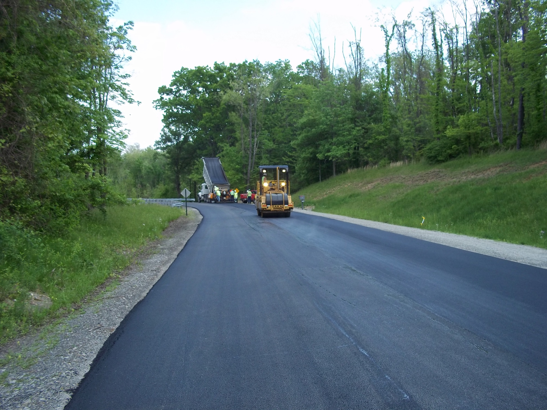 Resurfacing existing road